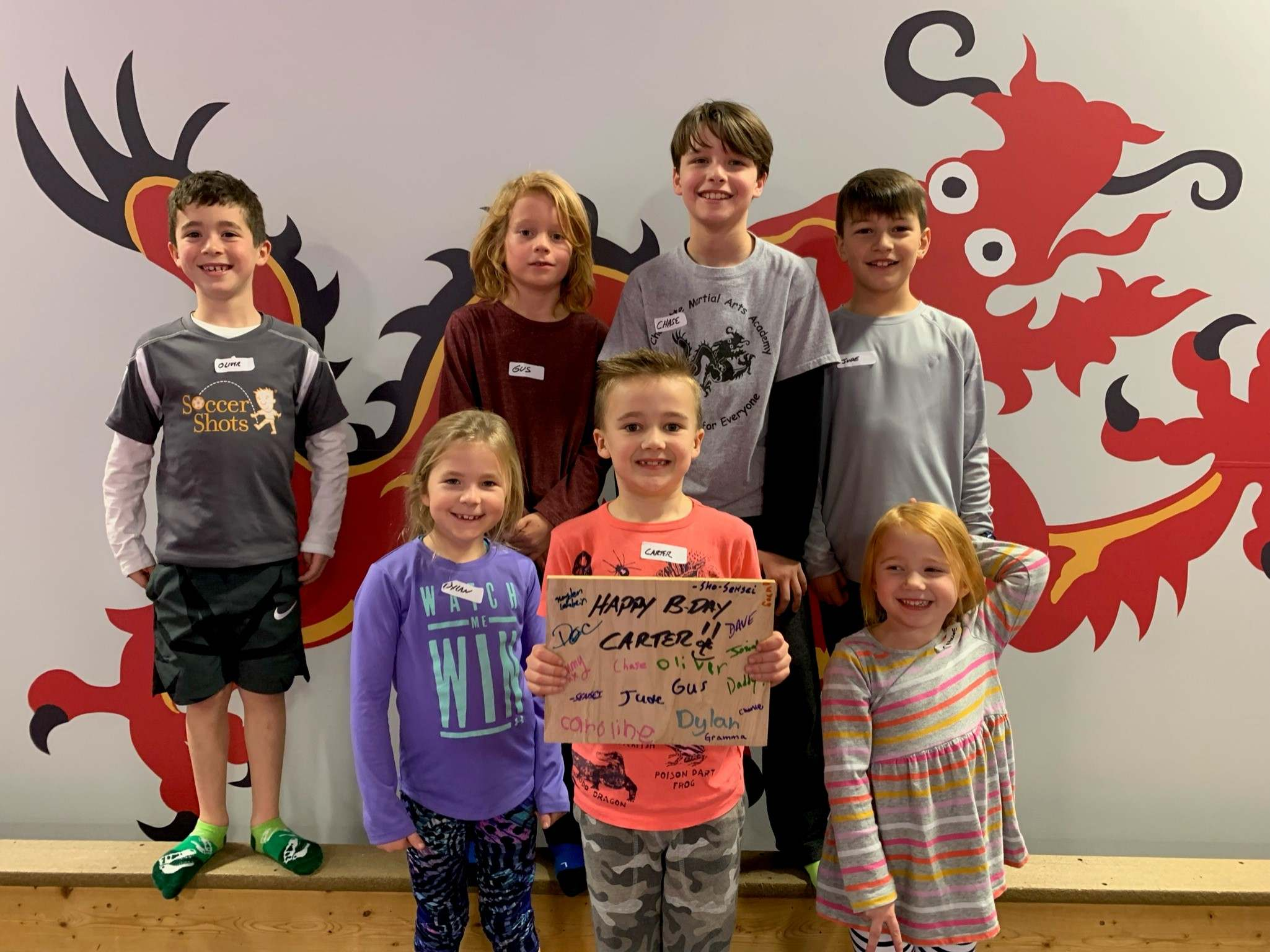 Happy Bday Carter, Charlotte Martial Arts Academy Charlotte NC